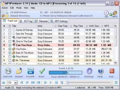 MP3Producer FR 2.61 screenshot