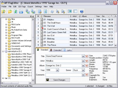MP3TagEditor 2.08 screenshot