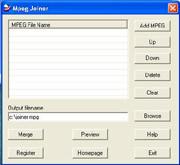 Mpeg Joiner 2.4.1.9 screenshot
