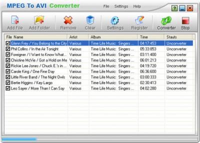 MPEG to AVI Converter 1.00 screenshot