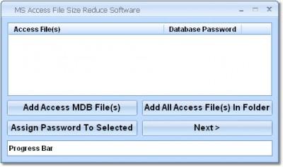 MS Access File Size Reduce Software 7.0 screenshot