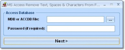 MS Access Remove Text, Spaces & Characters From Fi 7.0 screenshot