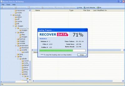 MS Backup Repair Software 5.4 screenshot