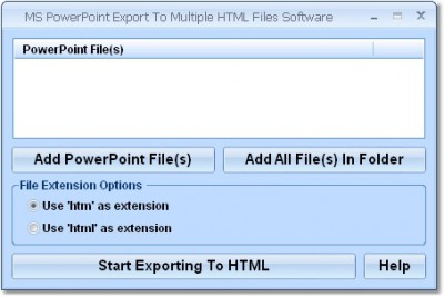 MS PowerPoint Export To Multiple HTML Files Softwa 7.0 screenshot