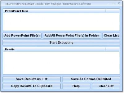 MS PowerPoint Extract Emails From Multiple Present 7.0 screenshot