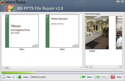 MS PowerPoint PPTX Recovery 2.0 screenshot