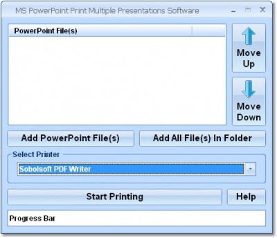 MS PowerPoint Print Multiple Presentations Softwar 7.0 screenshot