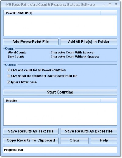 MS PowerPoint Word Count & Frequency Statistics So 7.0 screenshot