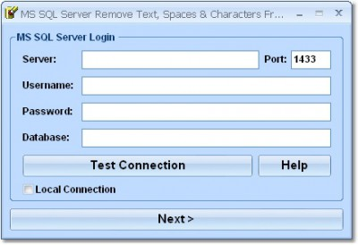 MS SQL Server Remove Text, Spaces & Characters Fro 7.0 screenshot