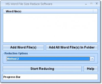 MS Word File Size Reduce Software 7.0 screenshot