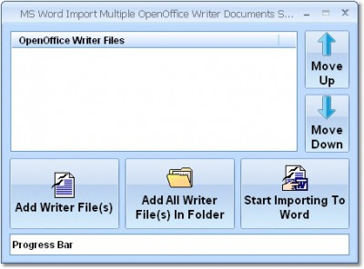 MS Word Import Multiple OpenOffice Writer Document 7.0 screenshot