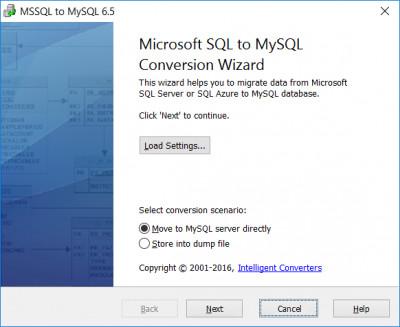 MSSQL-to-MySQL 6.5 screenshot