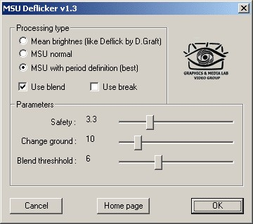 MSU Deflicker VirtualDub plugin 1.3 screenshot