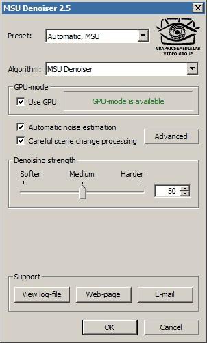 MSU Denoiser VirtualDub plugin 2.5.1 screenshot