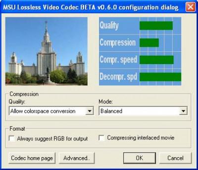 MSU Lossless Video Codec 0.6.0 screenshot