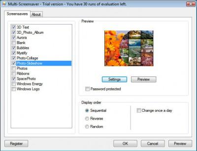 Multi-Screensaver 1.2 screenshot