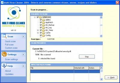 Multi Virus Cleaner 2006 v6.5.0 screenshot