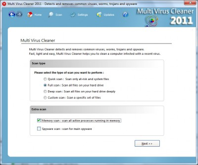 Multi Virus Cleaner 2011 11.5.2 screenshot