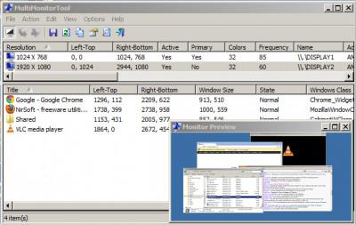 MultiMonitorTool 1.92 screenshot