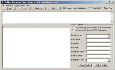 Multiple Database Query Analyzer 2.1 screenshot
