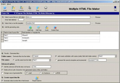 Multiple HTML File Maker 2.3 screenshot