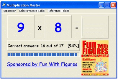 Multiplication Master 1.1 screenshot