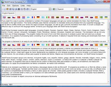 MultiTranse European 7.0 screenshot