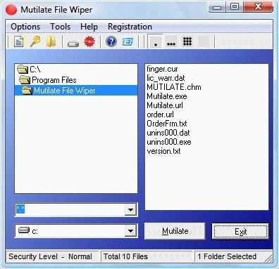 Mutilate File Wiper 2.97 screenshot