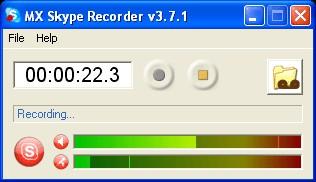 MX Skype Recorder 4.1.0 screenshot