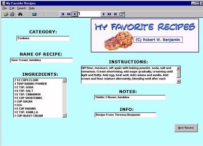 My Favorite Recipes 11.0 screenshot