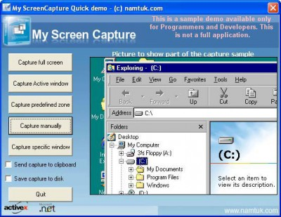 My Screen Capture ActiveX 1.32 screenshot