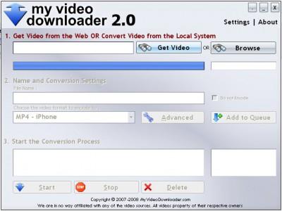 My Video Downloader 2.0 screenshot