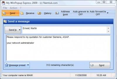 My WinPopup Express 2009.03 screenshot