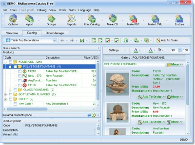 MyBusinessCatalog Platinum Professional 10.0.0 screenshot