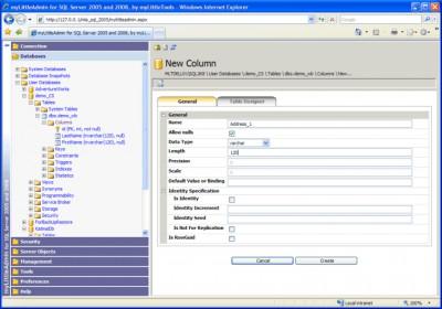 myLittleAdmin for SQL Server 2005 3.1 screenshot