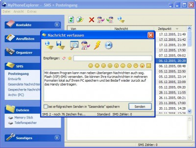 MyPhoneExplorer 1.5.9 screenshot