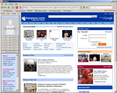 MySpace Browser 1.0.0 screenshot