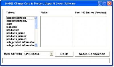 MySQL Change Case to Proper, Upper & Lower Softwar 7.0 screenshot