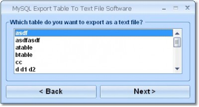 MySQL Export Table To Text File Software 7.0 screenshot