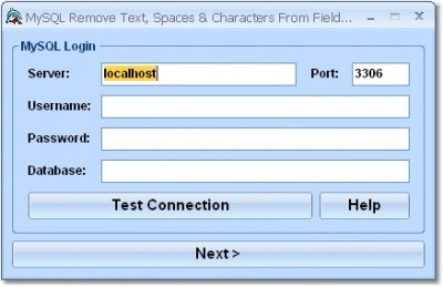 MySQL Remove Text, Spaces & Characters From Fields 7.0 screenshot