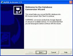 MySQL-to-Access 4.3.1 screenshot