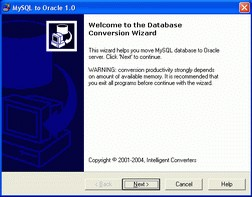 MySQL-to-Oracle 3.5 screenshot