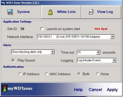 myWIFIzone WIFI Internet Access Blocker 3.0 screenshot