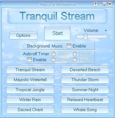 Natural Ambience - Sound Therapy Software 1.5 screenshot