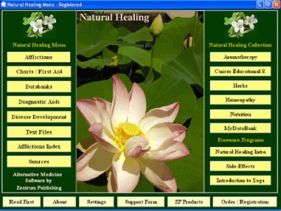 Natural Healing 6.8 screenshot