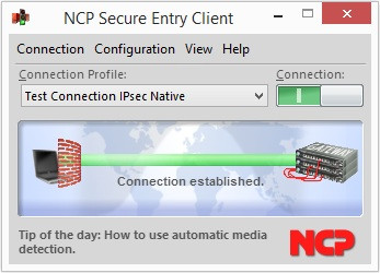 NCP Secure Entry Windows Client 11.10 screenshot