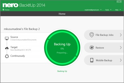 Nero BackItUp 2014 15.0.23.0 screenshot