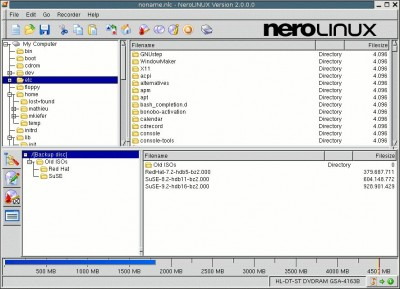 NeroLINUX 2.1.0.3 screenshot