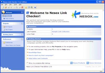 Nesox Link Checker Professional Edition 2.0 screenshot