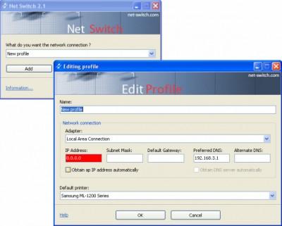 Net Switch 2.1 screenshot